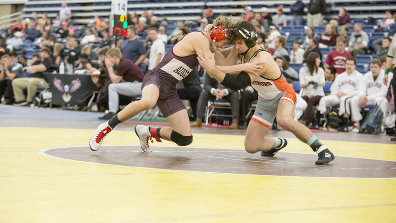 Wartburg won 34 of its 40 matches over the course of the two-day tournament to claim its seventh straight Division III title at the NWCA Multi-Divisional National Duals in Fort Wayne, Indiana. Photo by Sara Levin.